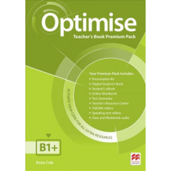 Optimise B1+ Teacher's Book Premium Pack
