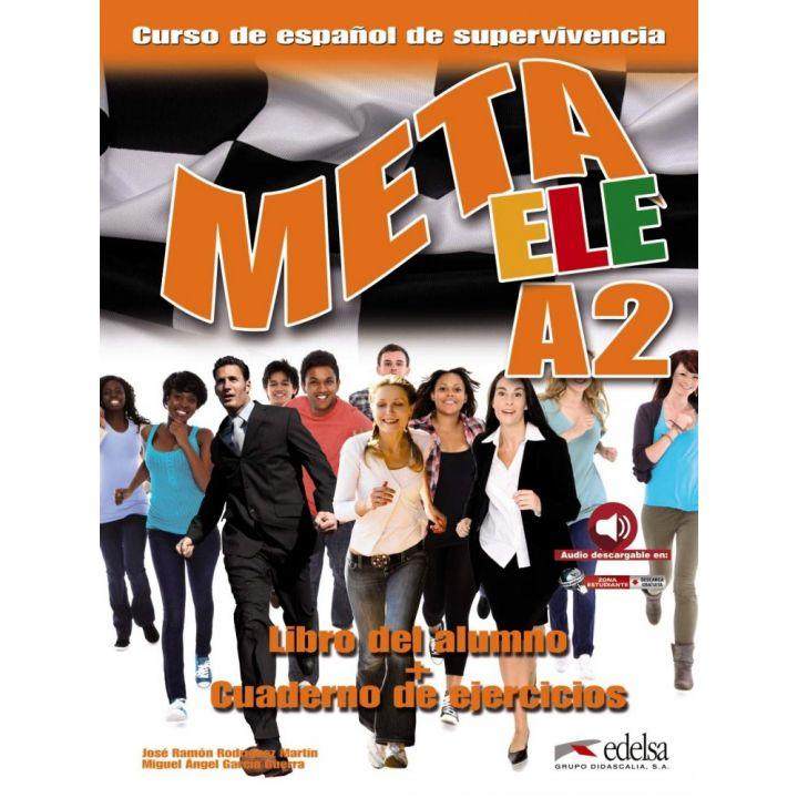 Meta ele A2 Libro del alumno + Cuaderno de ejercicios + Acceso completamente gratuito a los Audios