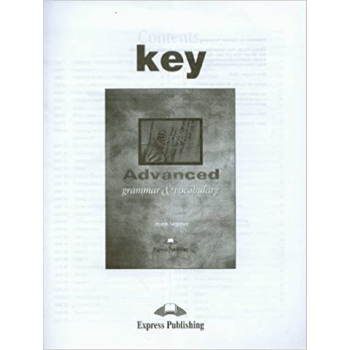 Advanced Grammar and Vocabulary Answer Key Booklet