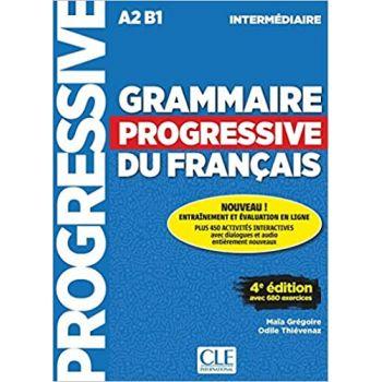 Grammaire Progressive du Francais 4e Edition Intermediaire Livre + CD + Livre-web-interactif