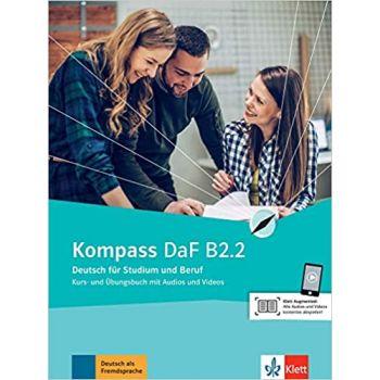 Kompass DaF B2.2 Kurs und Übungsbuch mit Audios und Videos