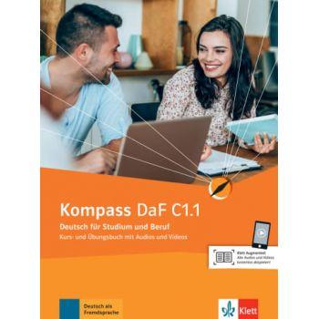 Kompass DaF Kurs und Übungsbuch C1.1  mit Audios und Videos online