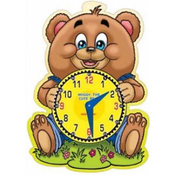 Let's Learn Time Huggy The Cute Bear