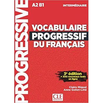 Vocabulaire Progressive du Francais 4e Edition Intermediaire Livre + CD + Livre-web-interactif